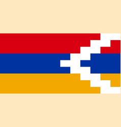 Flag republic artsakh vector