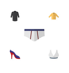 flat icon clothes set of brasserie underclothes vector image