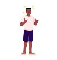 Flirting man flat cheerful african american guy vector