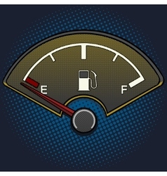 Fuel gauge pop art style vector