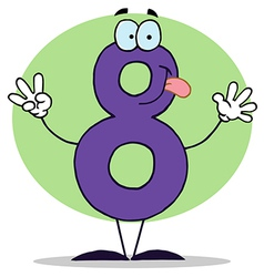 Funny Cartoon Numbers-8 vector image