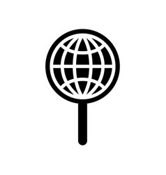 Global search icon vector