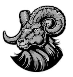 goat head logo icon back vector image