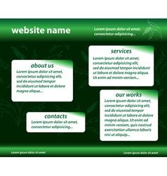 green template - website vector image