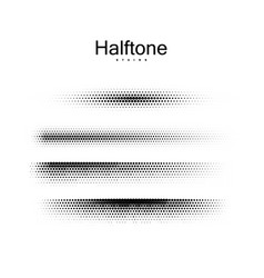 Halfton brush strokes collection vector