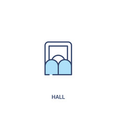 Hall concept 2 colored icon simple line element vector