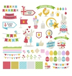 Happy Easter icons Set vector image
