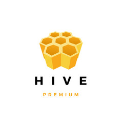 hive honey logo icon vector image
