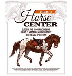 horse riding poster for horse center vector image