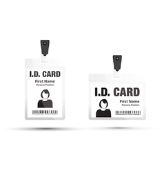 Id card woman black vector
