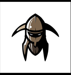 image of helmet of the viking vector image