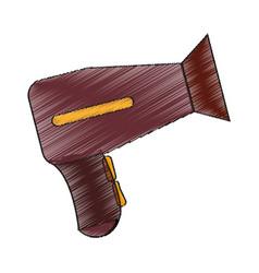 Isolated hair dryer design vector
