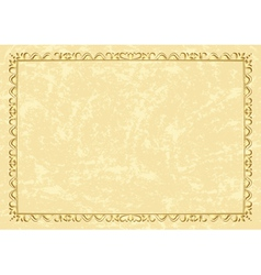 light beige vintage frame vector image
