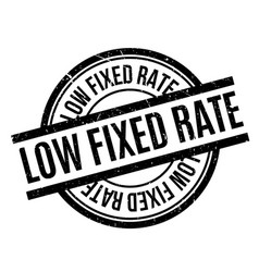 Low fixed rate rubber stamp vector