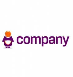 maid logo for service company vector image