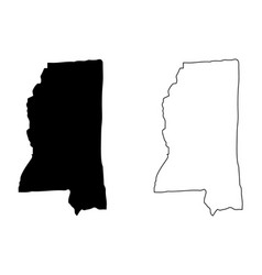 Mississippi map vector