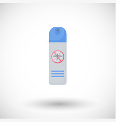 mosquito repellent flat icon vector image