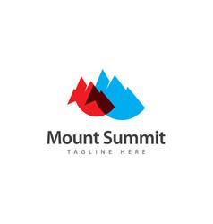 Mount summit template design vector