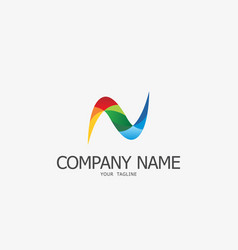 n logo template vector image