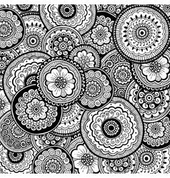 Nature ornamental background Mehndi style vector