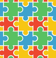 Puzzle seamless background vector image