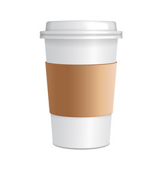 realistic paper coffee cup 3d realistic coffee vector image