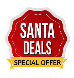 santa deals sign or stamp vector image