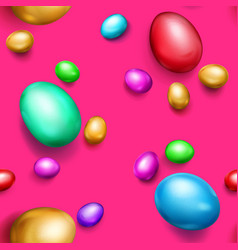 seamless pattern of colored easter eggs vector image