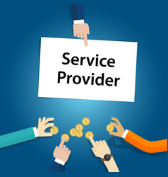 Service provider user customer pay fees for the vector