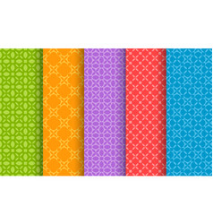 set of different bright seamless patterns vector image