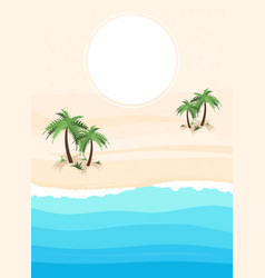 Simple ocean landscape background vector