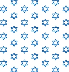 Star of David pattern vector image