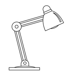 Table lamp icon outline style vector