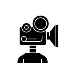 video camera production black concept icon vector image