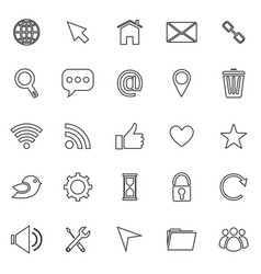 website line icons on white background vector image vector image
