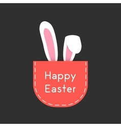 white rabbit ears in red pocket vector image