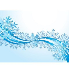 Winter wave pattern background vector image