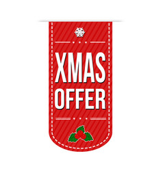 xmas offer banner design vector image