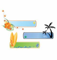 beach banner vector image
