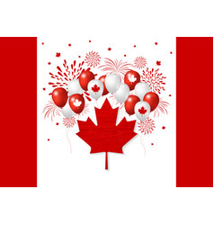 canada day design of flag and balloon with vector image vector image