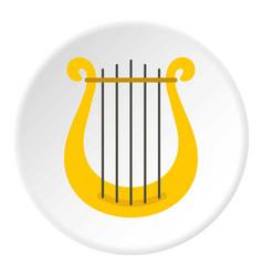harp icon circle vector image vector image