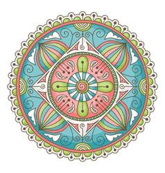mandala doodle color vector image