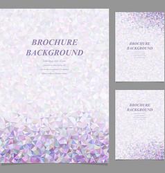 Modern abstract brochure template design vector image