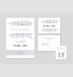 set of four templates with floral ornament vector image