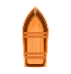 topview of a wooden boat vector image