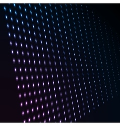 Abstract blue color neon dots dotted technology vector image vector image