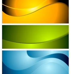 Abstract corporate wavy bright banners vector image vector image