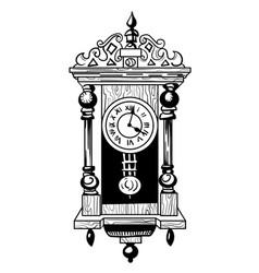 cartoon image of old clock vector image