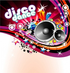 disco colorful flyer background vector image vector image
