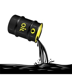 Flow of oil from barrel vector image vector image